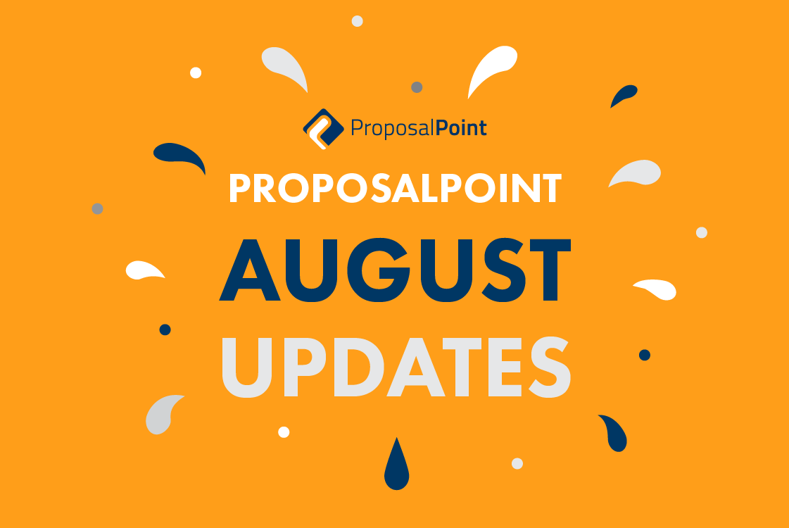 ProposalPoint August Updates