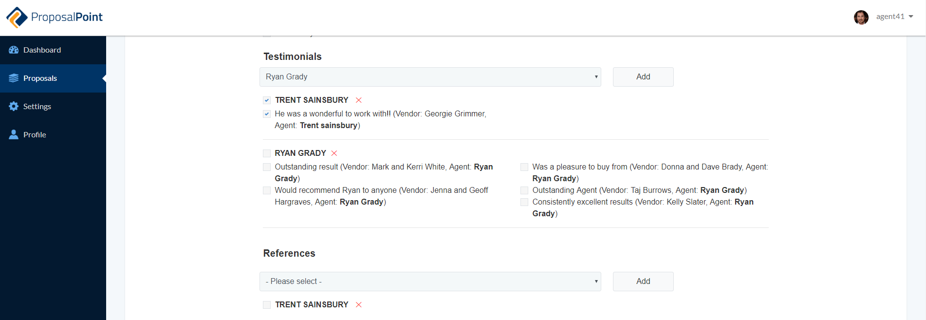 New Feature: Testimonials and References Search