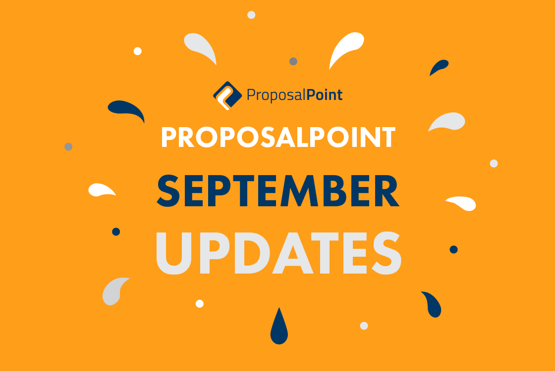 ProposalPoint September Updates