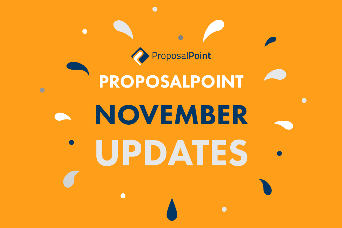 New Features and Upgrades to ProposalPoint