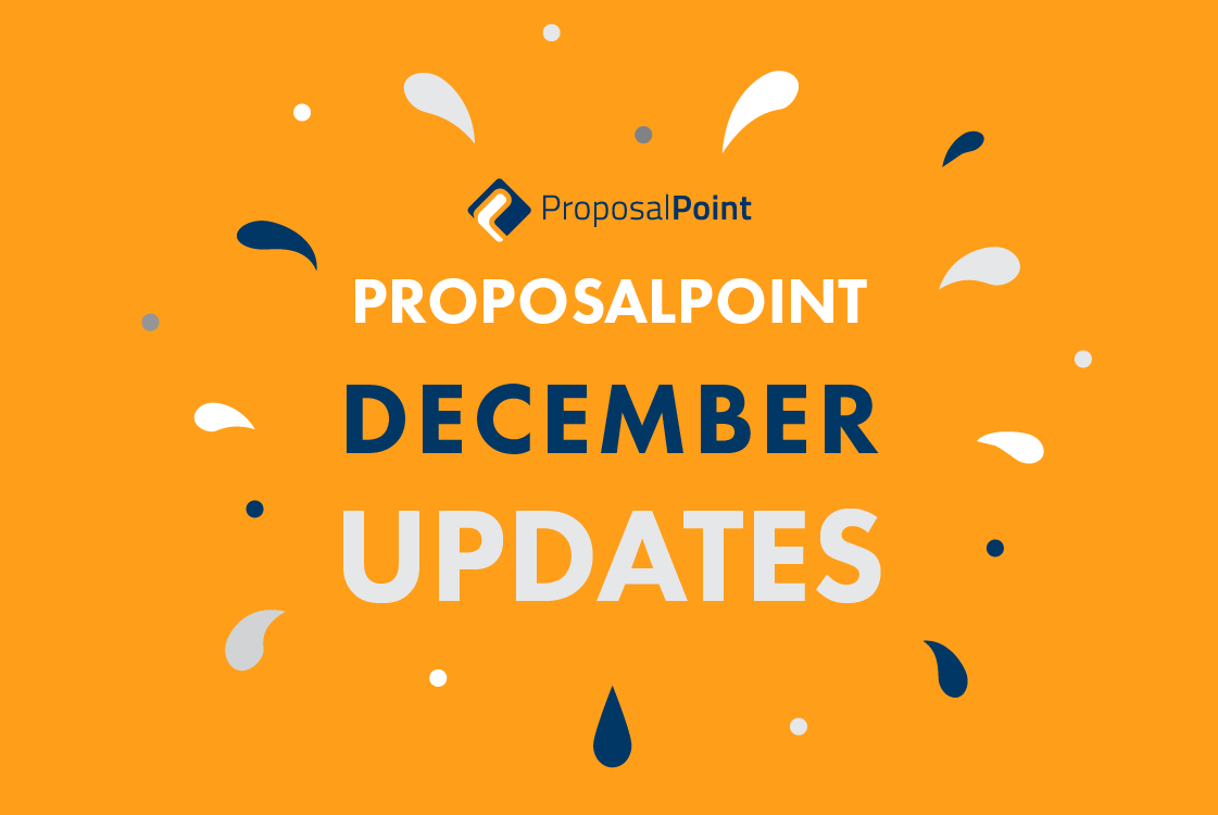ProposalPoint December Updates