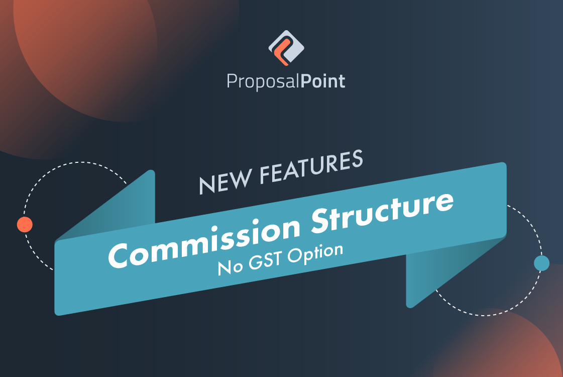 New Feature: Commission Structure – No GST Option