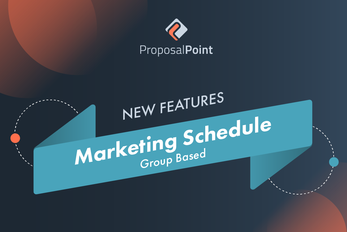 New Feature: Marketing Schedule – Group Based